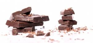 Pieces of black chocolate
